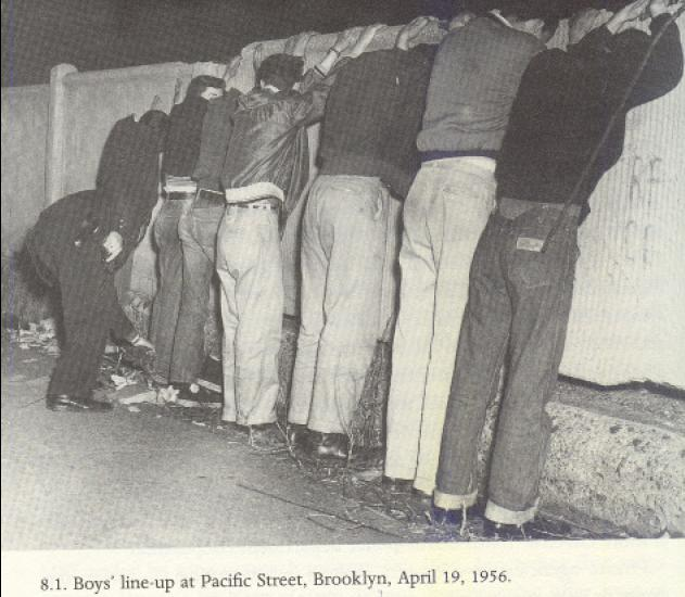 Boys Lineup NYC Youth Gangs   1950s