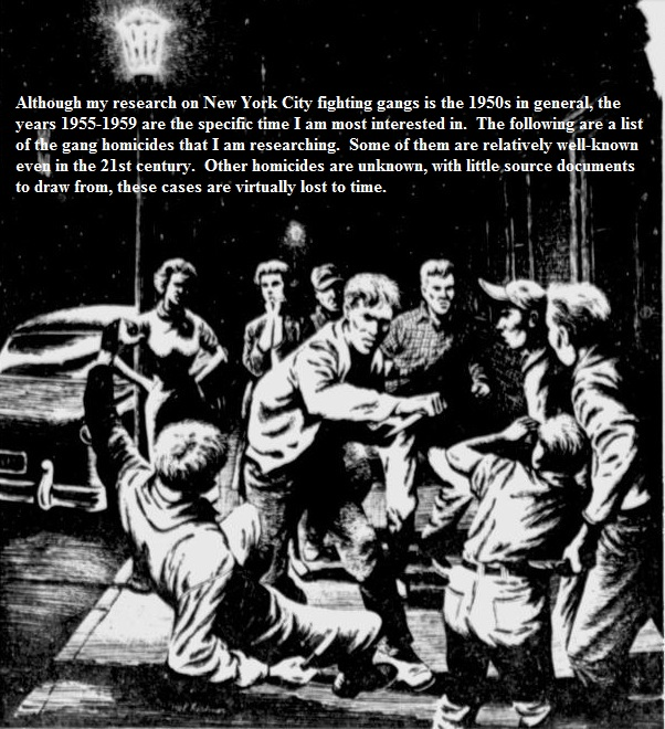 gang homicides 19531960 new york city fighting gangs